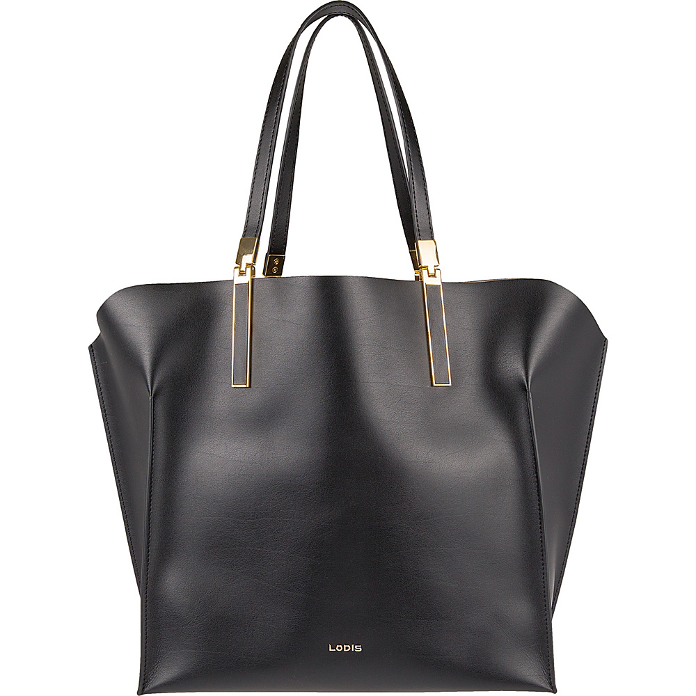 Lodis Blair Unlined Lucia Travel Tote Black/Taupe - Lodis Leather Handbags - Handbags, Leather Handbags