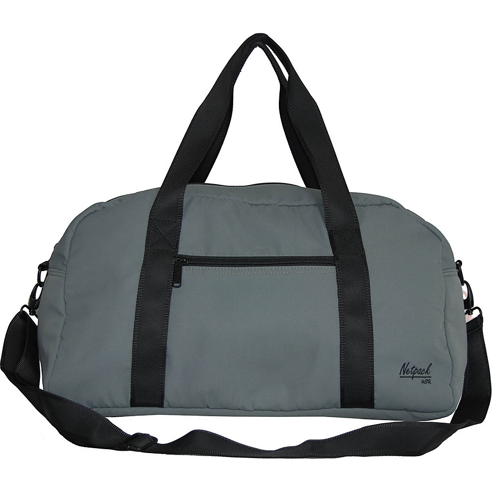 Netpack Soft Lightweight Travel Duffel with RFID Pocket Grey Netpack Travel Duffels