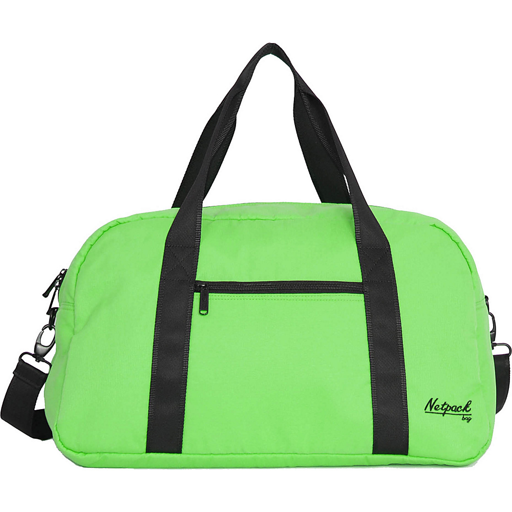 Netpack Soft Lightweight Travel Duffel with RFID Pocket Green Netpack Travel Duffels