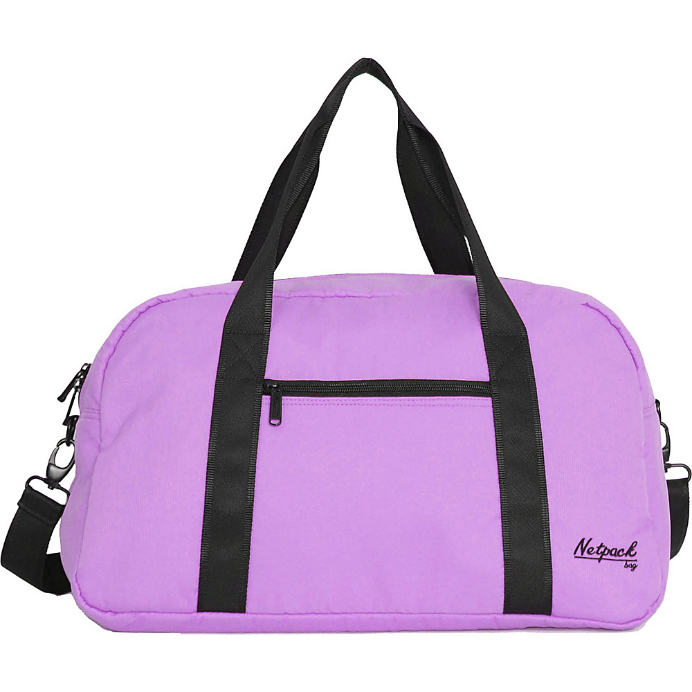 Netpack Soft Lightweight Travel Duffel with RFID Pocket Purple Netpack Travel Duffels