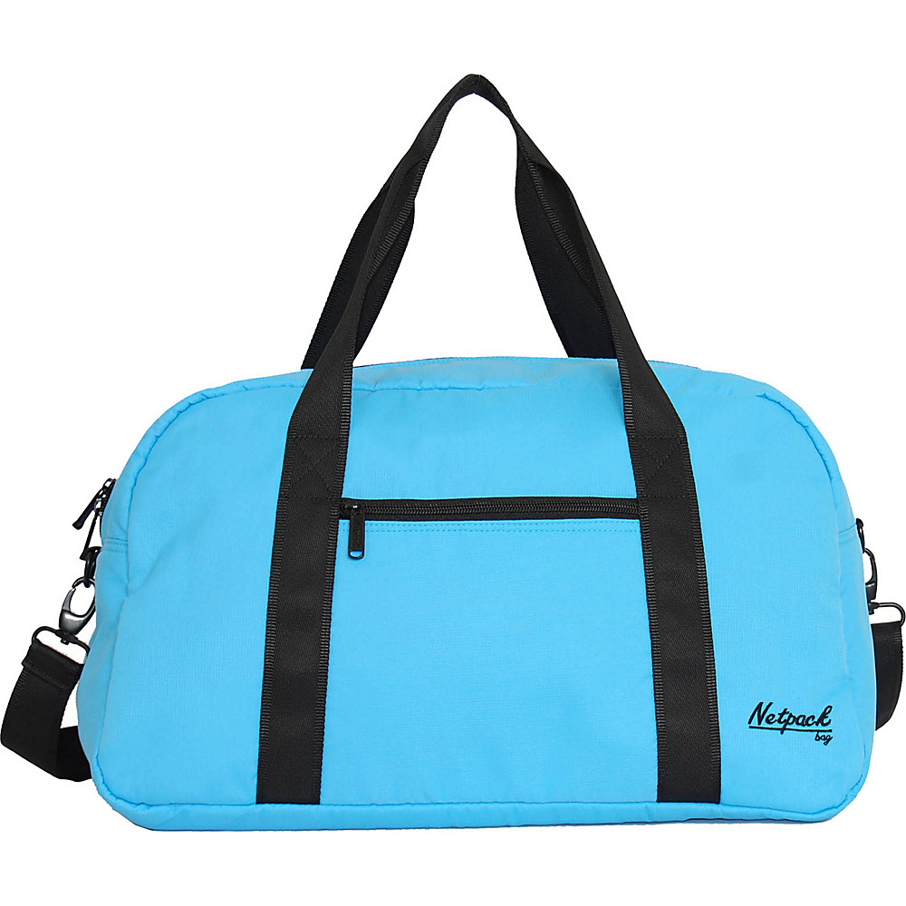 Netpack Soft Lightweight Travel Duffel with RFID Pocket Blue Netpack Travel Duffels