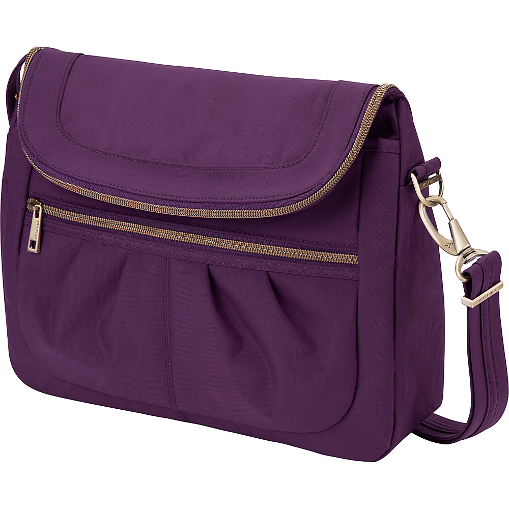 da18f556a $55.24 More Details · Travelon Anti-Theft Signature Flap Compartment  Crossbody Bag Purple/Gray - Travelon Fabric Handbags