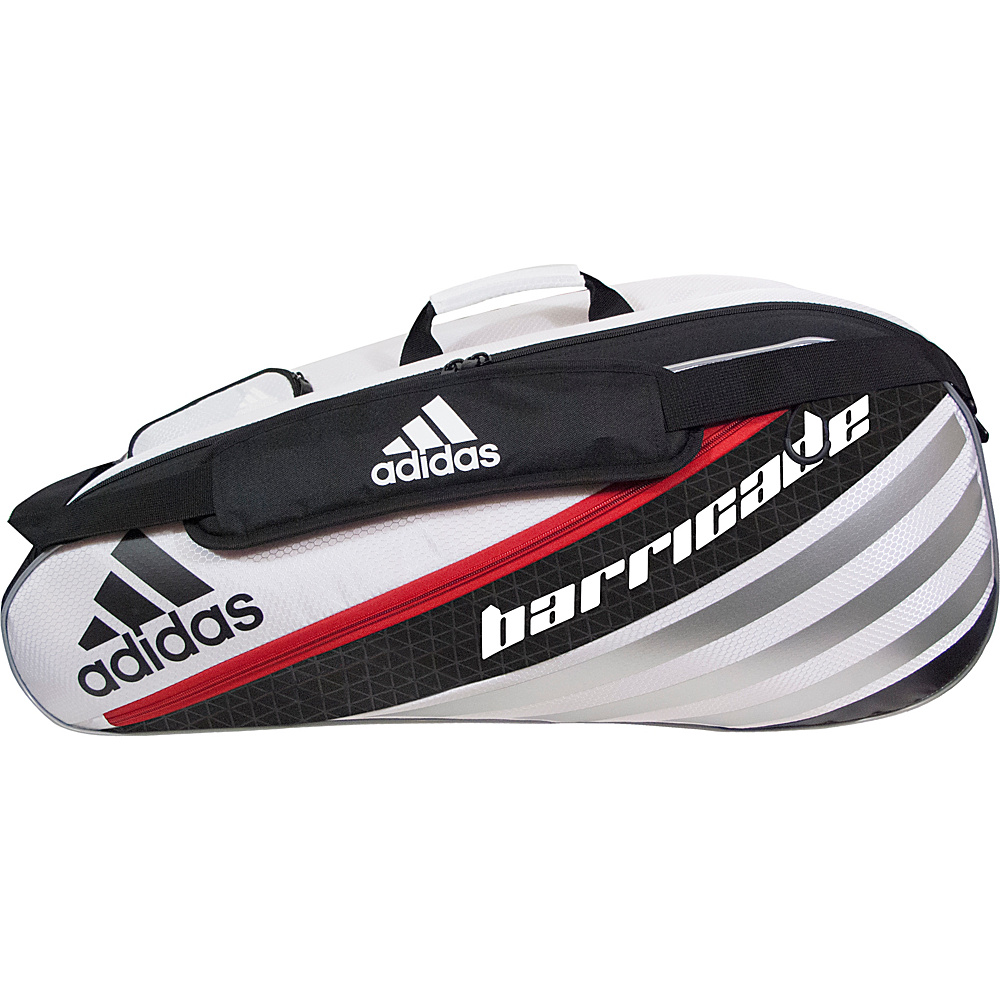 adidas Barricade IV Tour 6 Racquet Bag White/Black/Scarlet - adidas Other Sports Bags