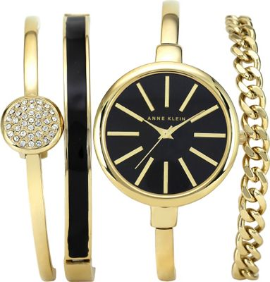 Anne Klein Watches Watch And Bracelet Set Gold - Anne Klein Watches Watches