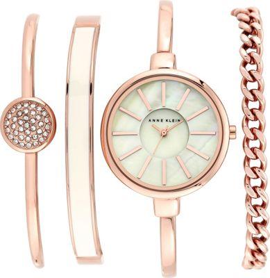 Anne Klein Watches Watch And Bracelet Set Rose Gold - Anne Klein Watches Watches
