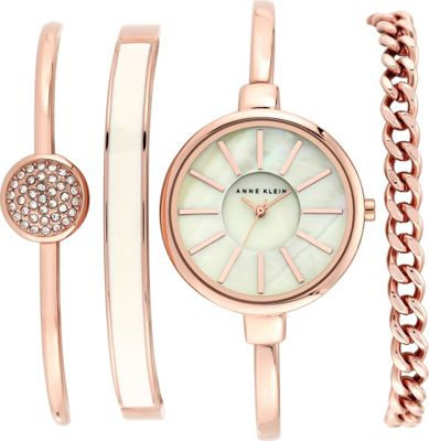 Anne Klein Watches Anne Klein Watches Watch And Bracelet Set Rose Gold - Anne Klein Watches Watches