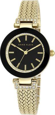 Anne Klein Watches Swarovski Crystal-Accented Watch With Gold-Tone Mesh Bracelet Gold - Anne Klein Watches Watches