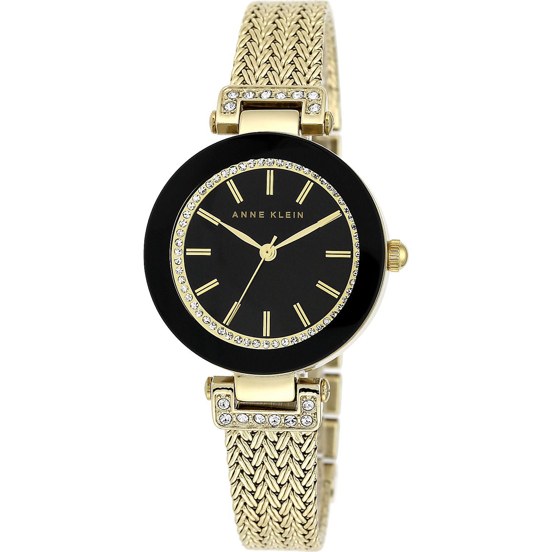 Anne klein swarovski crystal accented watch with gold tone mesh bracelet for Anne klein swarovski crystals