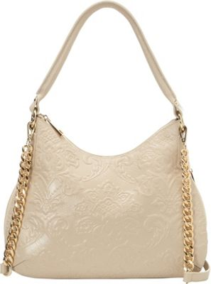 Tiffany & Fred Monica Hobo Beige - Tiffany & Fred Leather Handbags