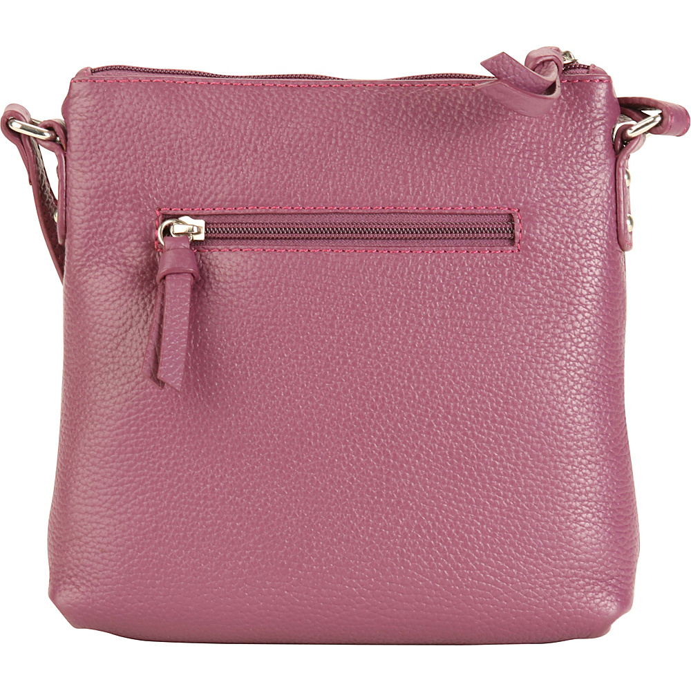 Hadaki Susan Cross body Plum - Hadaki Leather Handbags - Handbags, Leather Handbags