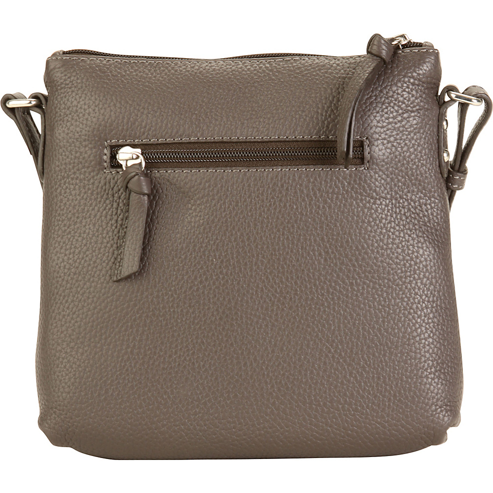 Hadaki Susan Cross body Shale Gray - Hadaki Leather Handbags - Handbags, Leather Handbags