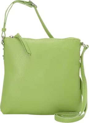 Hadaki Susan Crossbody Handbag Piquat Green - Hadaki Leather Handbags