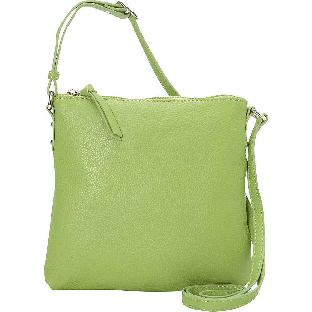 Hadaki Susan Cross body Piquat Green - Hadaki Leather Handbags - Handbags, Leather Handbags