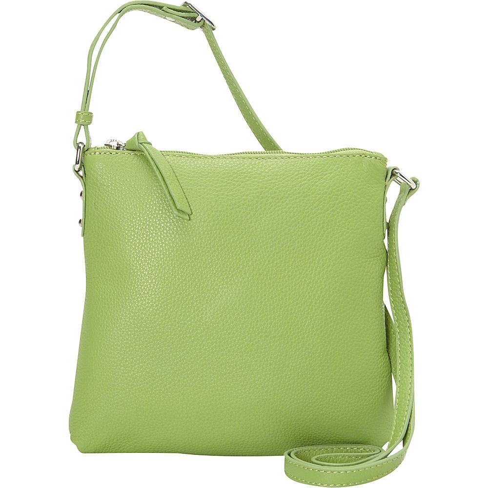 Hadaki Susan Crossbody Handbag Piquat Green - Hadaki Leather Handbags - Handbags, Leather Handbags