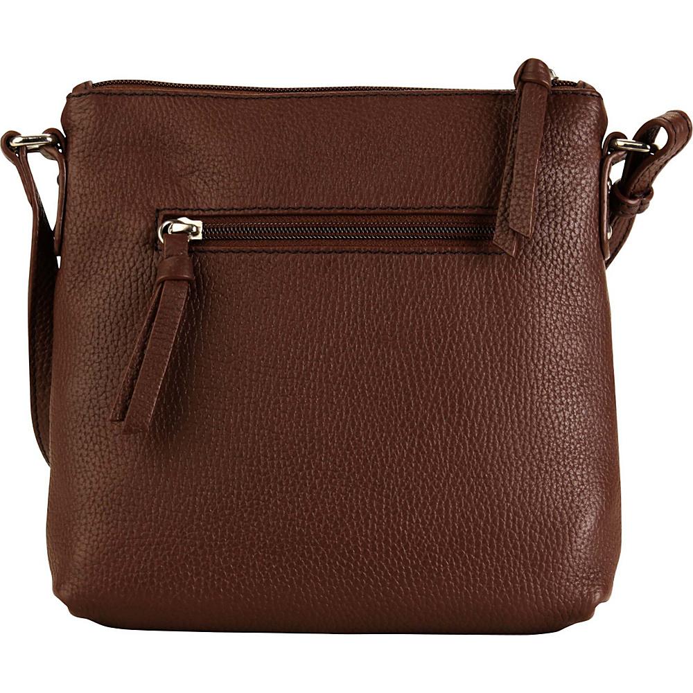 Hadaki Susan Crossbody Handbag Cognac - Hadaki Leather Handbags - Handbags, Leather Handbags