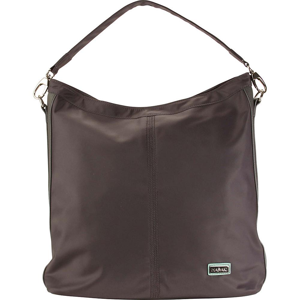 Hadaki Skinny Hobos Asphalt - Hadaki Fabric Handbags - Handbags, Fabric Handbags