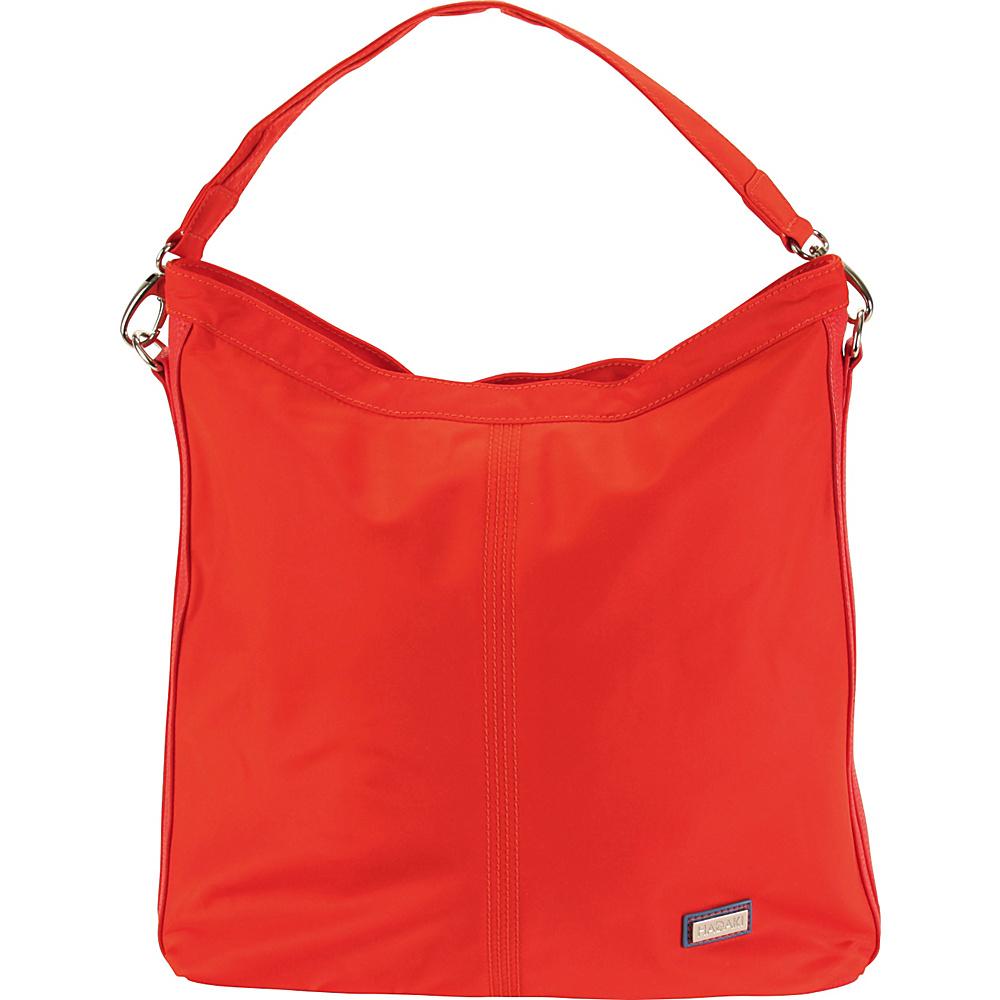 Hadaki Skinny Hobos Fiery Red Solid - Hadaki Fabric Handbags - Handbags, Fabric Handbags