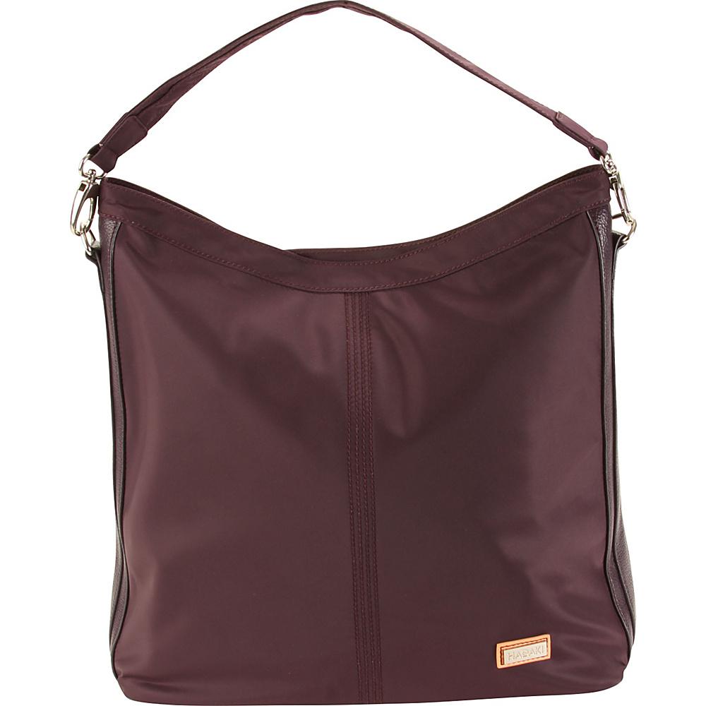 Hadaki Skinny Hobos Plum Perfect Solid - Hadaki Fabric Handbags - Handbags, Fabric Handbags