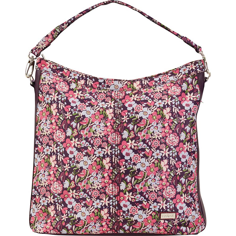 Hadaki Skinny Hobos Blossoms - Hadaki Fabric Handbags - Handbags, Fabric Handbags