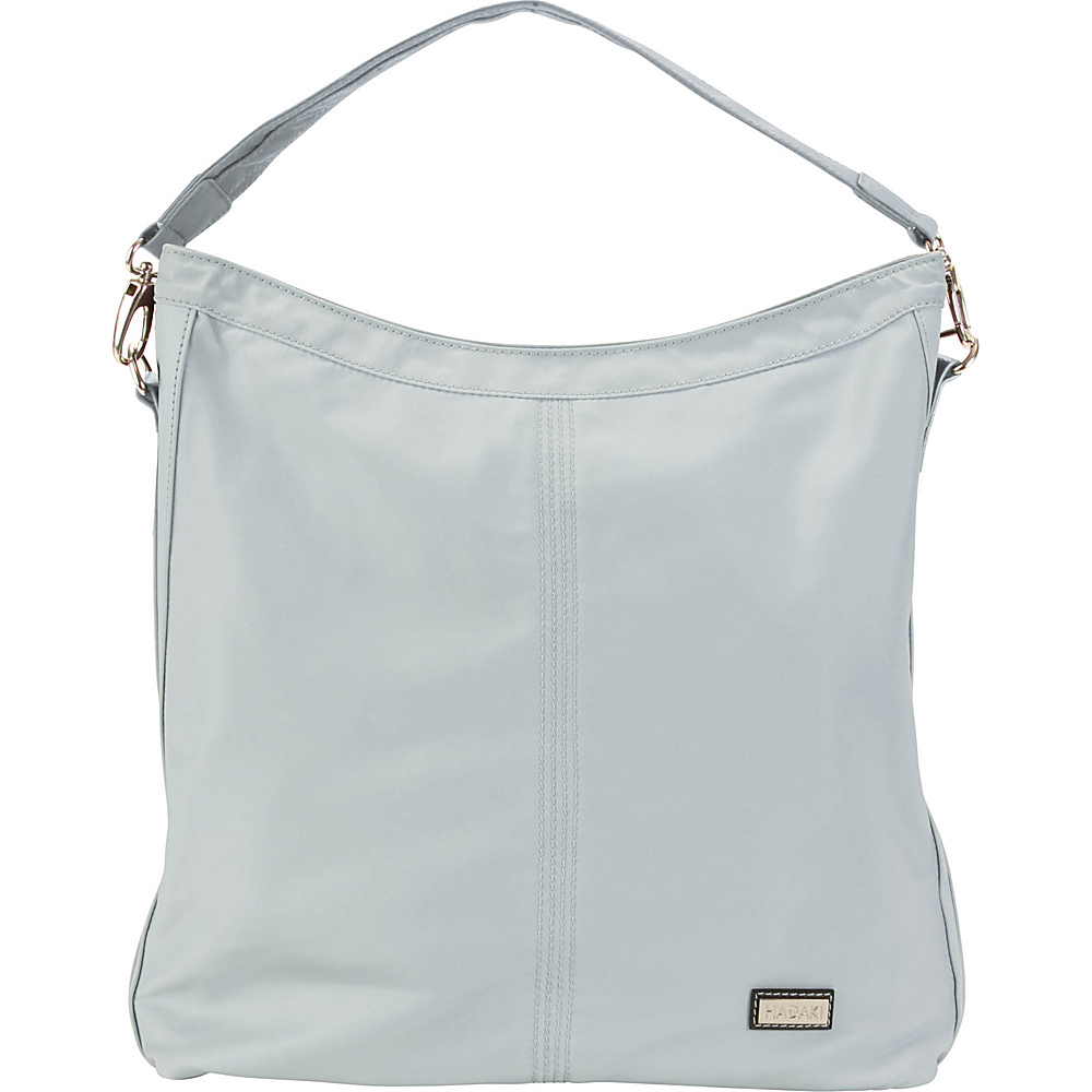 Hadaki Skinny Hobos Gray - Hadaki Fabric Handbags - Handbags, Fabric Handbags