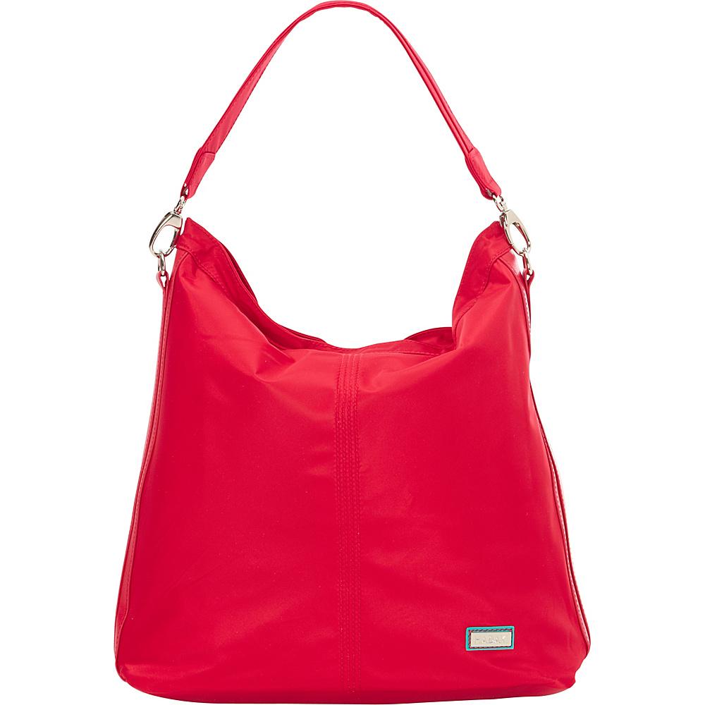 Hadaki Skinny Hobos Tango Red - Hadaki Fabric Handbags - Handbags, Fabric Handbags