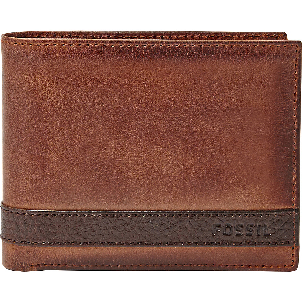 Fossil Quinn Passcase Brown - Fossil Mens Wallets - Work Bags & Briefcases, Men's Wallets