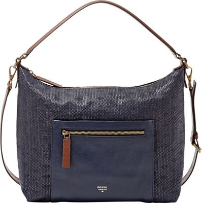Fossil Vickery Shoulder Bag Navy - Fossil Manmade Handbags