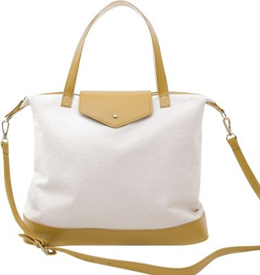 Paperthinks Canvas Envelope Bag Latte - Paperthinks Leather Handbags