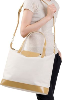 Paperthinks Canvas Envelope Bag Cappuccino - Paperthinks Leather Handbags