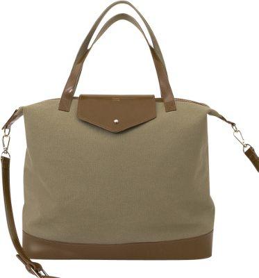 Paperthinks Canvas Envelope Bag Espresso - Paperthinks Leather Handbags