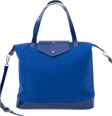 Paperthinks Canvas Envelope Bag Navy Blue - Paperthinks Leather Handbags