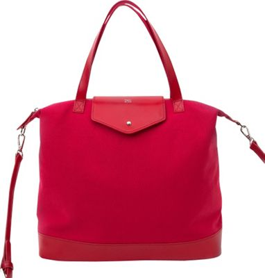 Paperthinks Canvas Envelope Bag Crimson - Paperthinks Leather Handbags