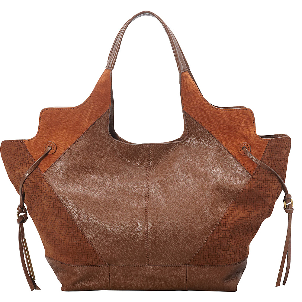 Upc 885935835596 Product Image For Ella Moss Luna Woven Tote Whiskey Designer Handbags