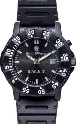 Smith & Wesson Watches S.W.A.T Watch with Rubber Strap Black - Smith & Wesson Watches Watches
