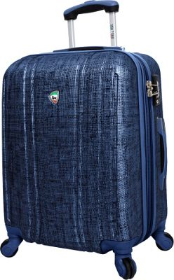 Mia Toro ITALY Macchiolina Abrasa Hardside 24 inch Spinner Blue - Mia Toro ITALY Hardside Checked