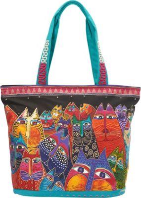 Laurel Burch Fantasticats Shoulder Tote Multi - Laurel Burch Fabric Handbags