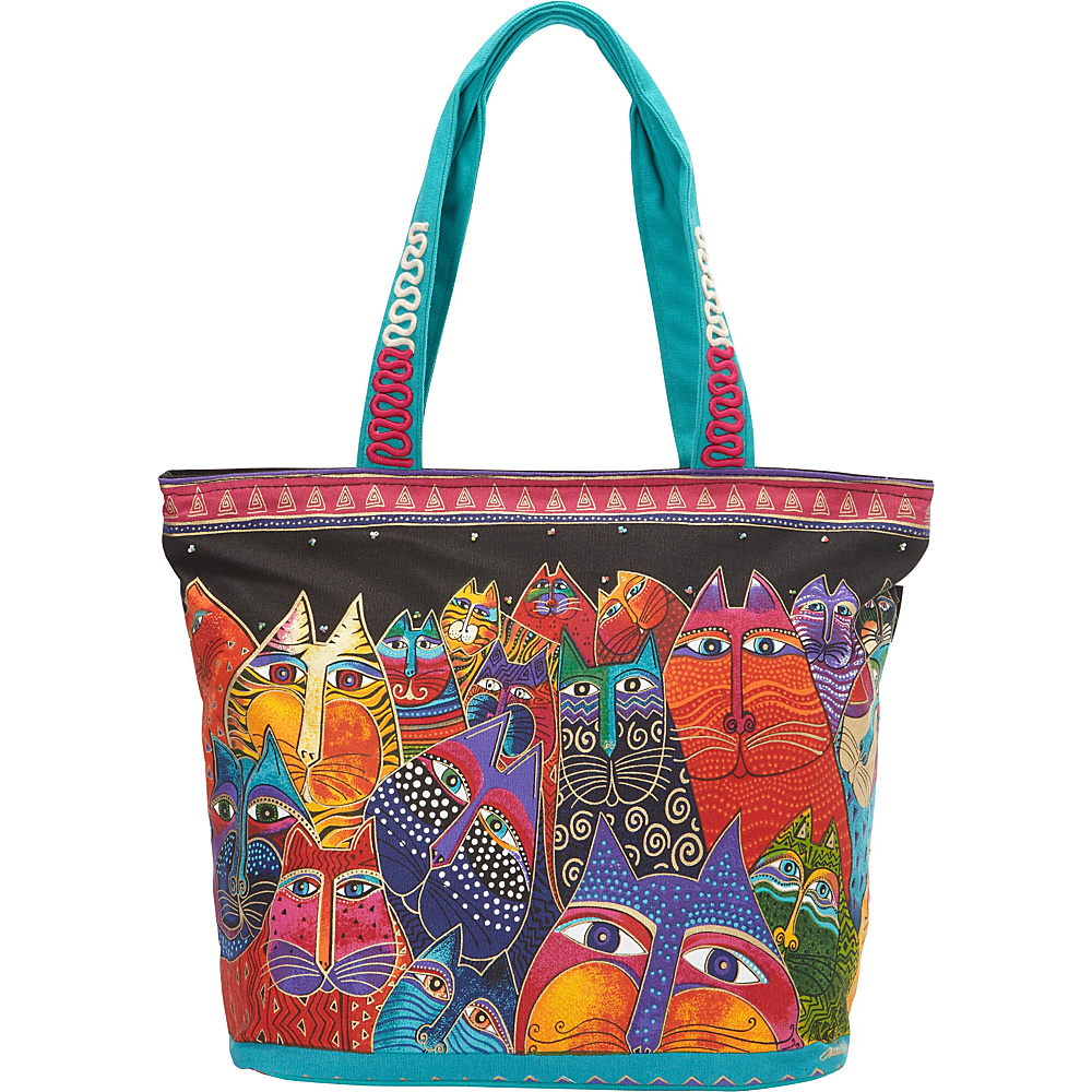 Laurel Burch Fantasticats Shoulder Tote Multi Laurel Burch Fabric Handbags