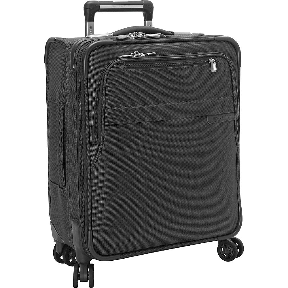 Briggs & Riley Baseline CX International Carry-On Expandable Wide-body Spinner Black - Briggs & Riley Softside Carry-On