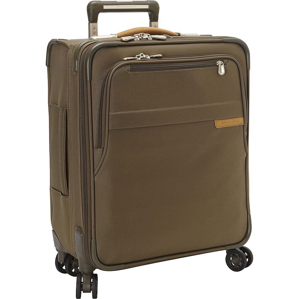 Briggs & Riley Baseline CX International Carry-On Expandable Wide-body Spinner Olive - Briggs & Riley Softside Carry-On