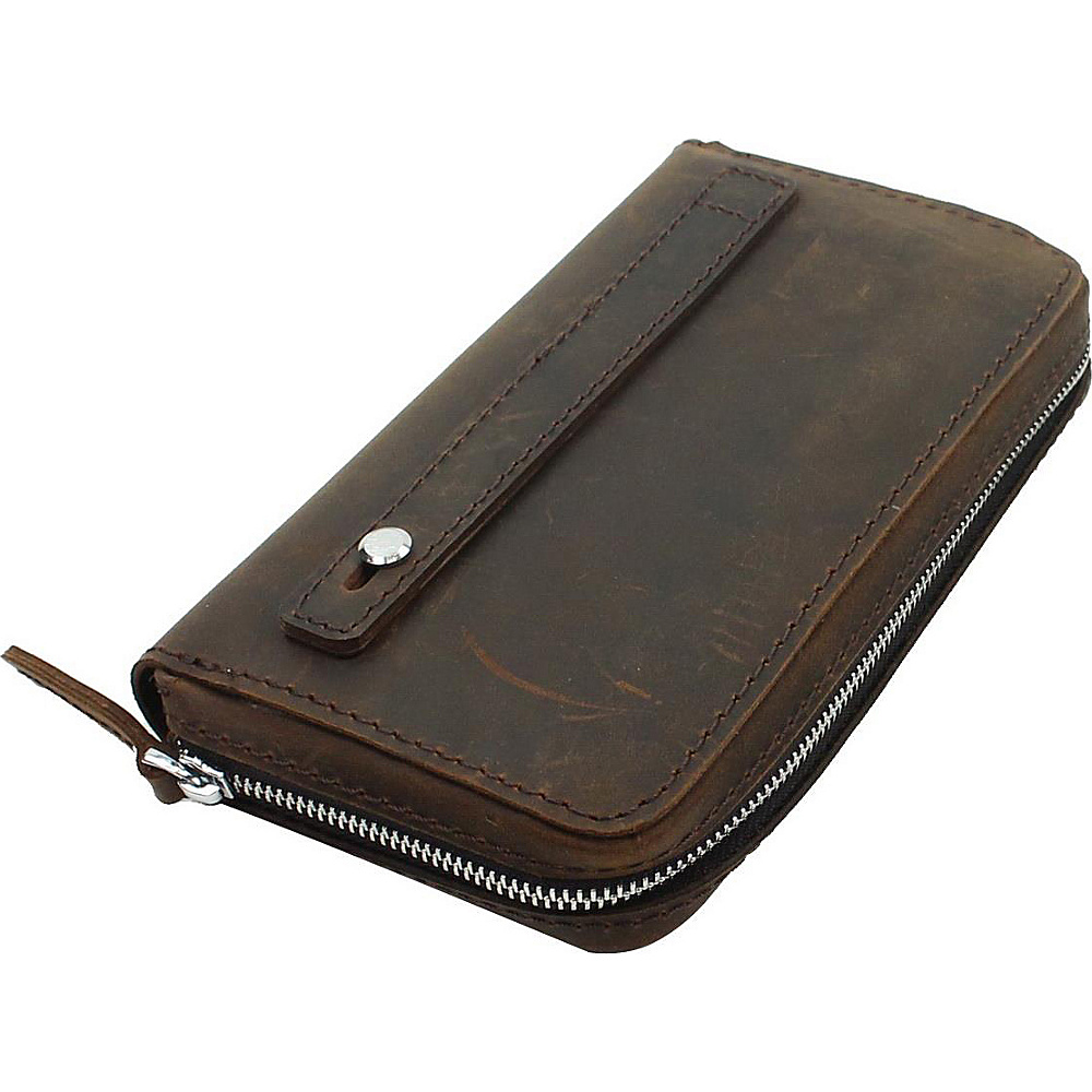 Vagabond Traveler 9 Large Leather Clutch Bag Dark Brown - Vagabond Traveler Womens Wallets - Women's SLG, Women's Wallets