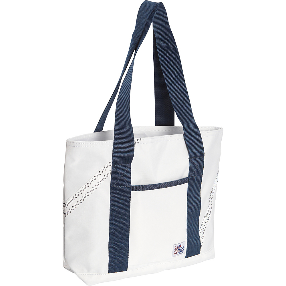 SailorBags Mini Tote White/Blue - SailorBags All-Purpose Totes
