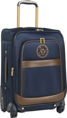 Anne Klein Luggage Newport 20 inch Expandable Spinner Navy - Anne Klein Luggage Softside Checked