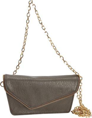Hang Accessories RFID Moto Belt Bag/Crossbody Bag Grey - Hang Accessories Manmade Handbags