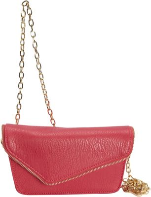 Hang Accessories RFID Moto Belt Bag/Crossbody Bag Fuchsia - Hang Accessories Manmade Handbags