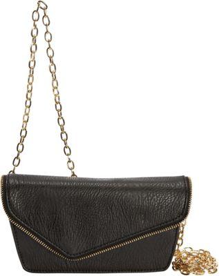 Hang Accessories RFID Moto Belt Bag/Crossbody Bag Black - Hang Accessories Manmade Handbags