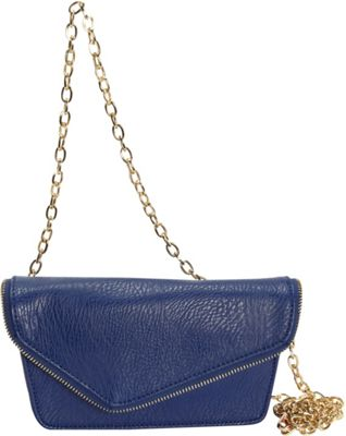 Hang Accessories RFID Moto Belt Bag/Crossbody Bag Blue - Hang Accessories Manmade Handbags