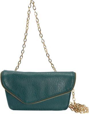 Hang Accessories RFID Moto Belt Bag/Crossbody Bag Green - Hang Accessories Manmade Handbags