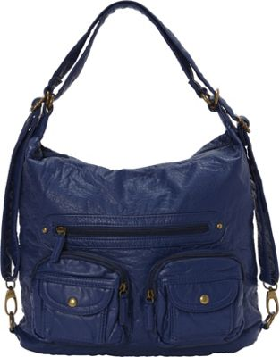Ampere Creations Convertible Backpack Crossbody Purse Dar...