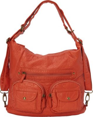 Ampere Creations Convertible Backpack Crossbody Purse Ora...