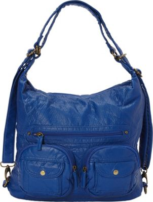 Ampere Creations Convertible Backpack Crossbody Purse Roy...